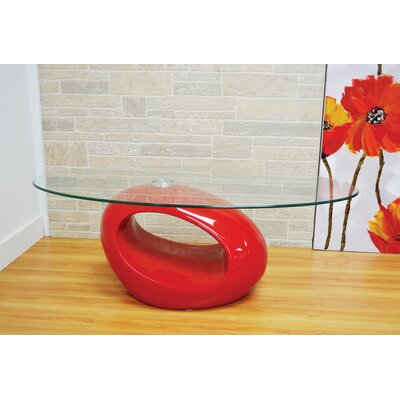 Delphina Coffee Table Table Base Color: Red