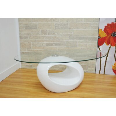 Delphina Coffee Table Table Base Color: White