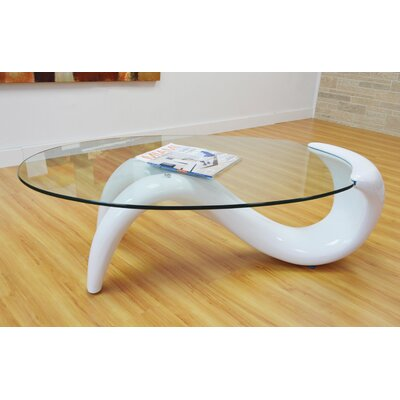Delphinia Coffee Table Table Base Color: White