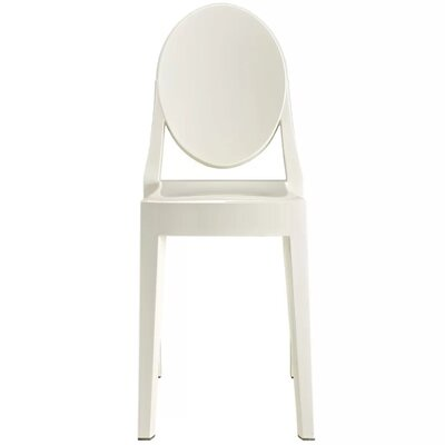 Bryker Woods Transparent Dining Chair Color: White