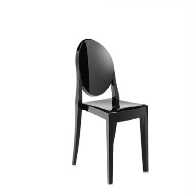Bryker Woods Transparent Dining Chair Color: Black
