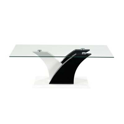 Dennett Coffee Table with Tempered Glass Top