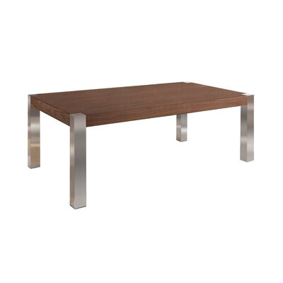 Gordan Coffee Table Size: 18 H x 79 W x 16 D, Table Top Color: Walnut