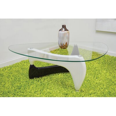 Depasquale Coffee Table with Tempered Glass Top