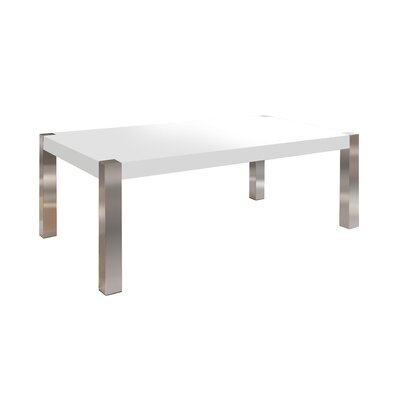 Gordan Coffee Table Size: 16 H x 47 W x 30 D, Table Top Color: White