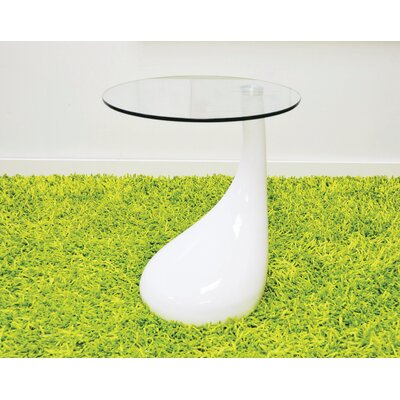 Depaul Tear Drop End Table Table Base Color: White