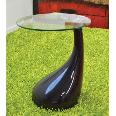 Depaul Tear Drop End Table Table Base Color: Black