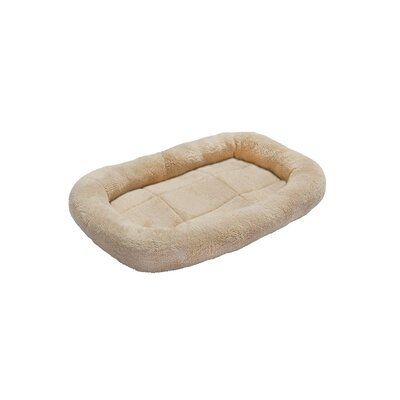Soft Plush Pet Bolster Size: 2.5 H x 17 W x 12 D, Color: Beige
