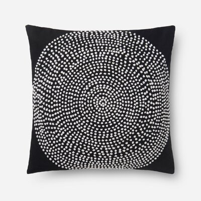 100% Cotton Pillow Color: Black, Type: Throw Pillow, Fill Material: Polyester