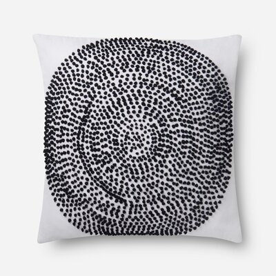 100% Cotton Pillow Color: Natural/Black, Type: Throw Pillow, Fill Material: Polyester