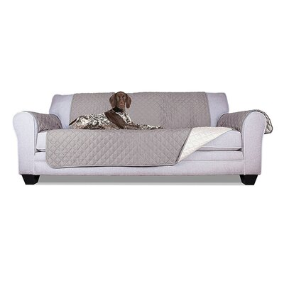 Pet Fur Protection Box Cushion Armchair Slipcover Size: 77 H x 80 W x 0.3 D, Upholstery: Gray
