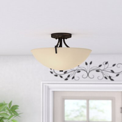 Brickyard 3-Light Semi Flush Mount Finish: Burnished Bronze