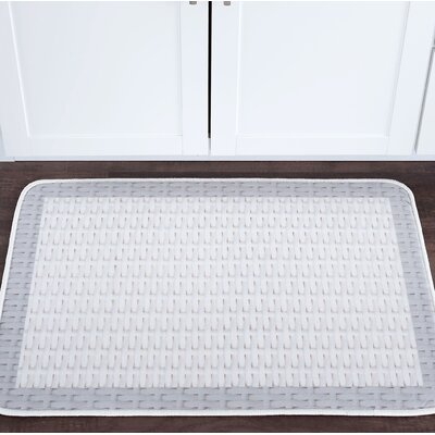 Armino Basketweave Foam Core Bath Rug Size: 24 W x 36 L