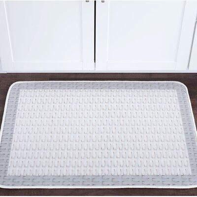 Armino Basketweave Foam Core Bath Rug Size: 20 W x 30 L