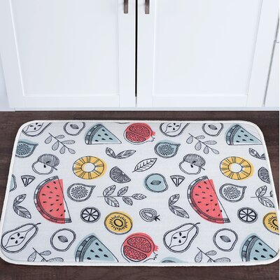Knepp Fruit Foam Core Bath Rug Size: 20 W x 30 L