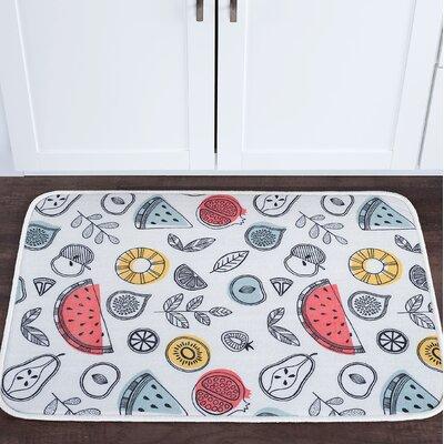 Knepp Fruit Foam Core Bath Rug Size: 24 W x 36 L
