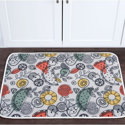 Knepp Exotic Fruit Foam Core Bath Rug Size: 24 W x 36 L