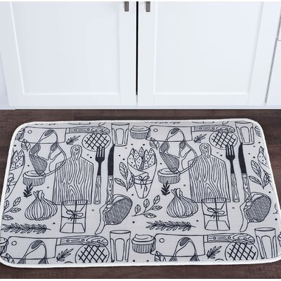 Witte Cutting Board Foam Core Bath Rug Size: 20 W x 30 L