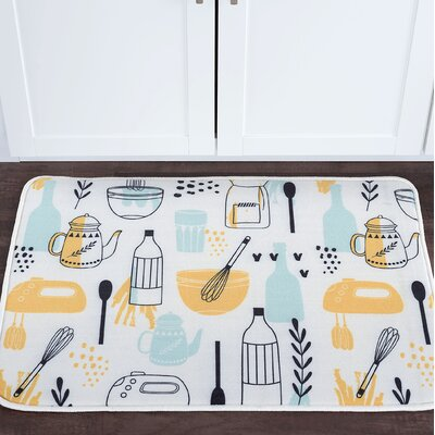 Witte Kitchen Objects Foam Core Bath Rug Size: 20 W x 30 L