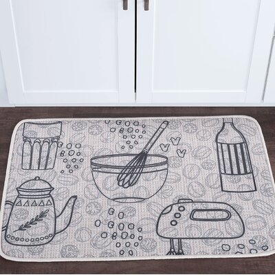 Drumavoley Kitchen Items Foam Core Bath Rug Size: 20