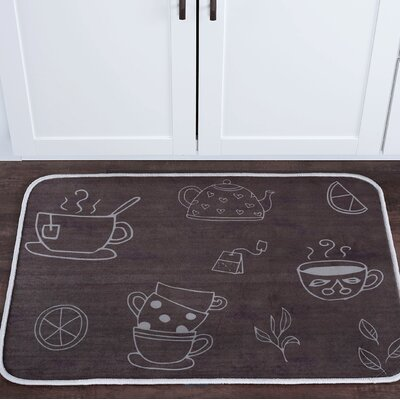 Witte Tea Foam Core Bath Rug Size: 24 W x 36 L