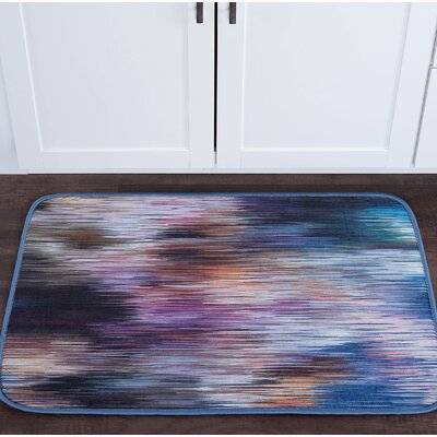 Knepp Rainbow Stria Foam Core Bath Rug Size: 24 W x 36 L