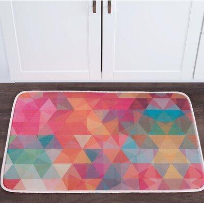 Knepp Cubes Foam Core Bath Rug Size: 24 W x 36 L