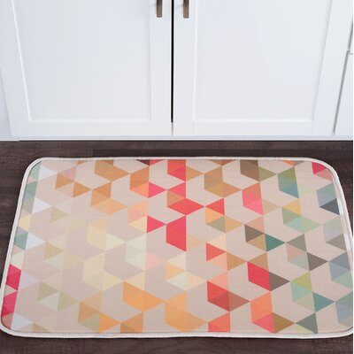 Knepp Hexagons Foam Core Bath Rug Size: 24 W x 36 L