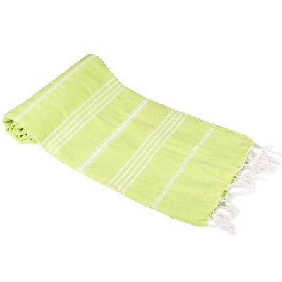 Classic Turkish 100% Cotton Beach Towel Color: Pistachio Green