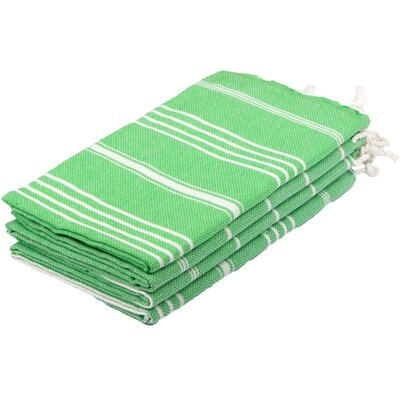 Lee 100% Cotton Hand Towel Color: Green