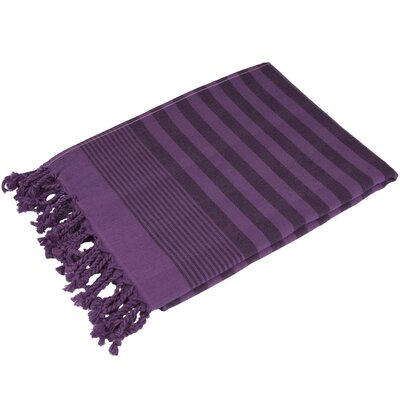 Fenwick Landing 100% Cotton Beach Towel Color: Purple