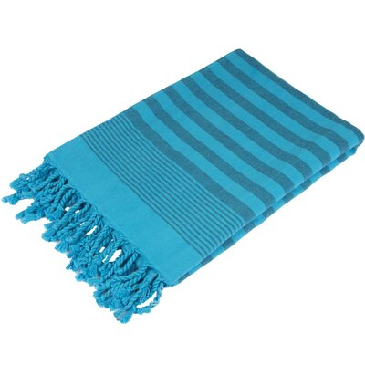 Fenwick Landing 100% Cotton Beach Towel Color: Turquoise Blue
