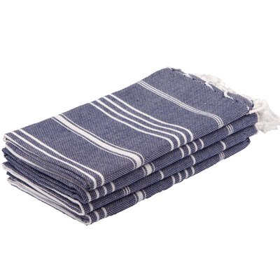 Lee 100% Cotton Hand Towel Color: Midnight Blue