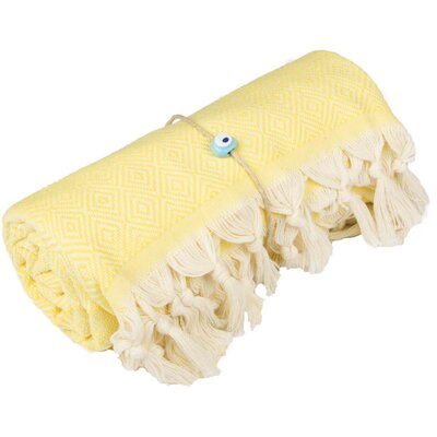 Longford Diamond 100% Cotton Beach Towel Color: Bright Yellow