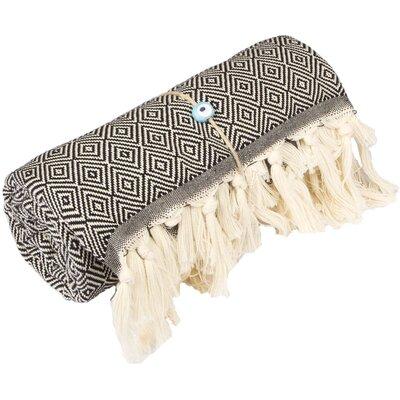 Longford Diamond 100% Cotton Beach Towel Color: Black