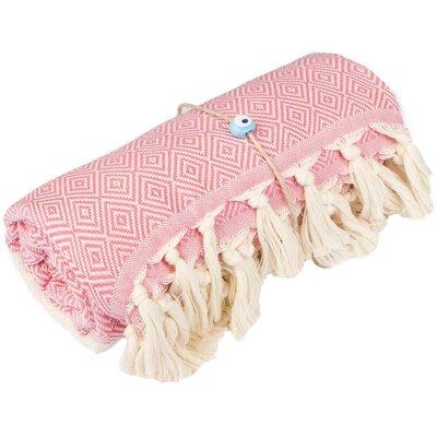 Longford Diamond 100% Cotton Beach Towel Color: Pink