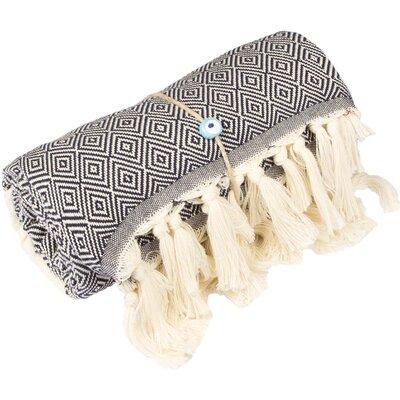 Longford Diamond 100% Cotton Beach Towel Color: Mignight Blue
