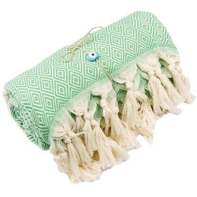 Longford Diamond 100% Cotton Beach Towel Color: Green