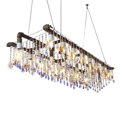 Everardo Triple Rail 22-Light Kitchen Island Pendant