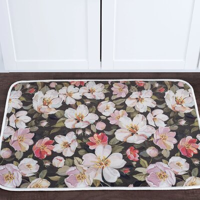 Courtright Flowers Foam Core Bath Rug