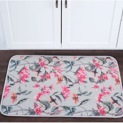 Sydney Flower Garden Foam Core Bath Rug Size: 24 W x 36 L