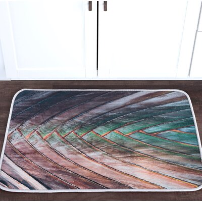 Platres Palm Foam Core Bath Rug Size: 24 W x 36 L