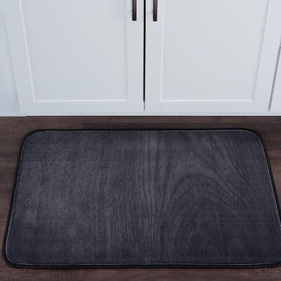 Drumavoley Woodgrain Foam Core Bath Rug Size: 24 W x 36 L