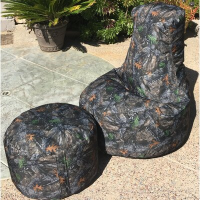 Camo Indoor/Outdoor Durable Bean Bag Set