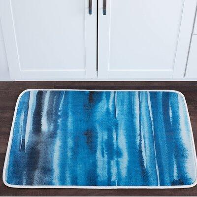 Knepp Watercolor Foam Core Bath Rug Size: 24 W x 36 L