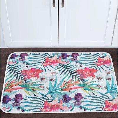 Platres Flora Foam Core Bath Rug Size: 24 W x 36 L