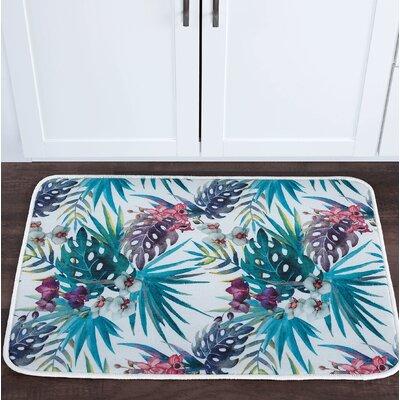 Platres Tropicana Foam Core Bath Rug Size: 20 W x 30 L