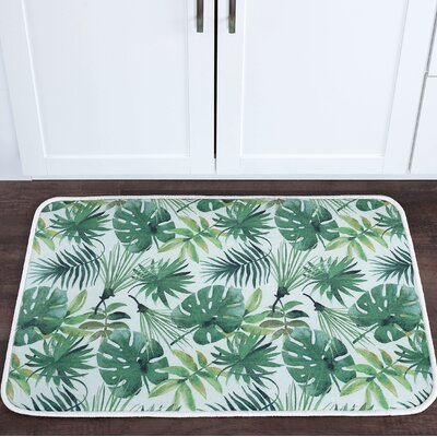 Platres Rainforest Foam Core Bath Rug Size: 24 W x 36 L