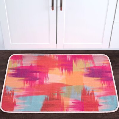 Knepp Crosshatch Foam Core Bath Rug Size: 24 W x 36 L
