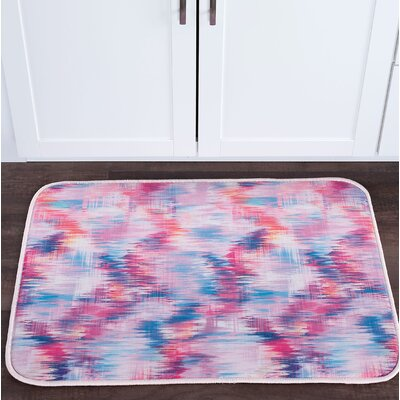 Knepp Brushed Diamonds Foam Core Bath Rug Size: 20 W x 30 L